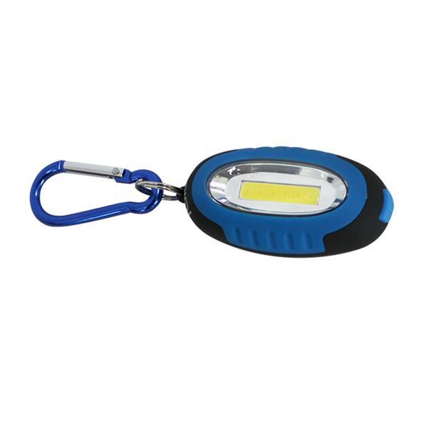 """Porte-clés iGlow avec lumière COB, 5,5"""" x 1,6"""", bleu, 2 mcx"""