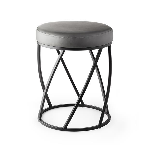 Better Living TWIST Vanity Seat - Black and Grey - 14-inx 18.25-in