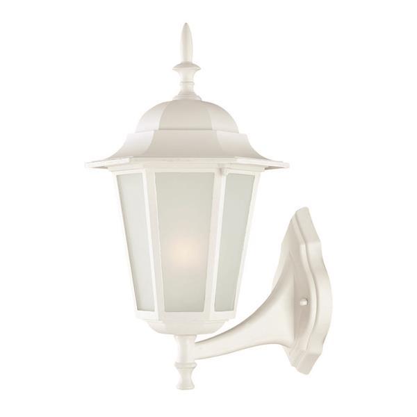 "Acclaim Lighting Camelot 1-Light Wall Mount Lantern - 8"" x 14.5"" - White"