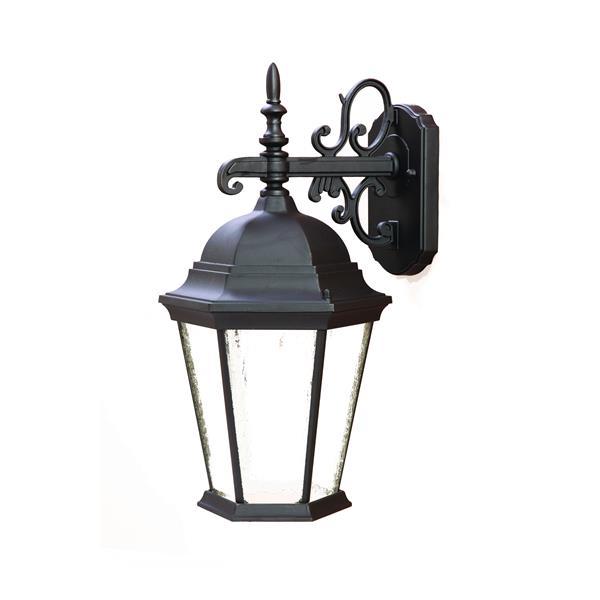 "Acclaim Lighting Richmond 1-Light Wall Mount Lantern - 9.5"" x 17.5"" - Black"