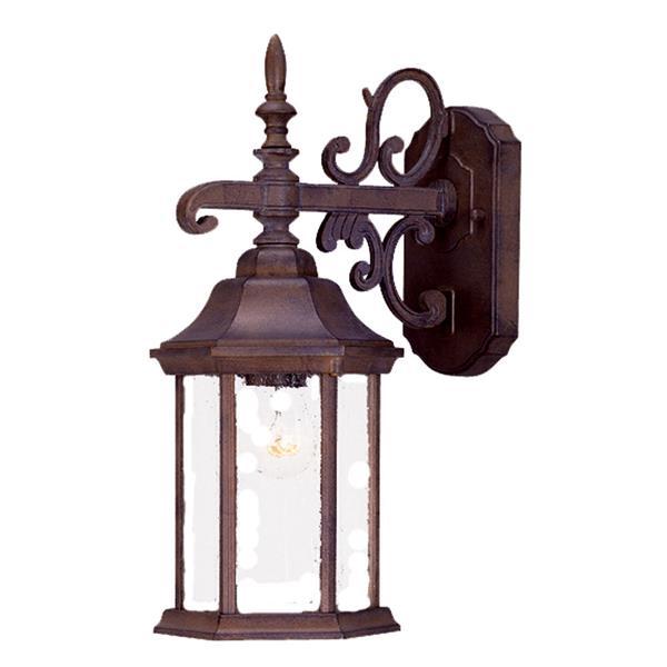 "Acclaim Lighting Madison 1-Light Wall Mount Lantern - 6,1"" x 15"" - Walnut"