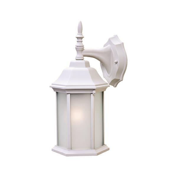 """Acclaim Lighting Craftsman 2 1-Light Wall Mount Lantern - 8"""" x 15.5"""" - White"""
