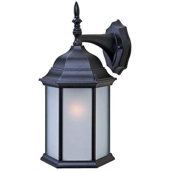 """Acclaim Lighting Craftsman 2 1-Light Wall Mount Lantern - 8"""" x 15.5"""" - Black"""