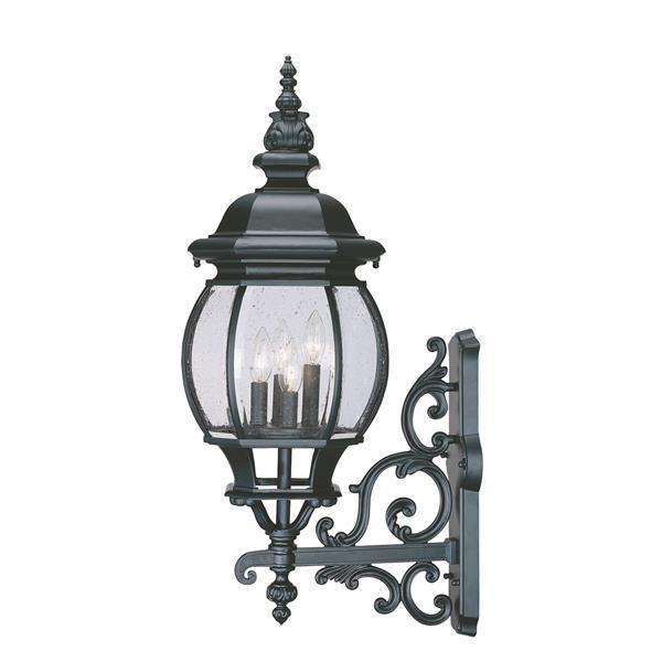 "Acclaim Lighting Chateau 4-Light Wall Mount Lantern - 11"" x 30.5"" - Black"