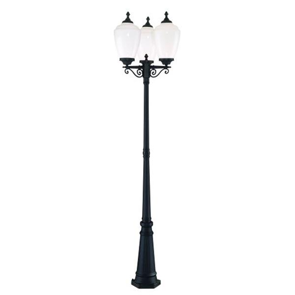 "Acclaim Lighting Acorn 3-Light Post-Mount Lantern - 91"" - Black"