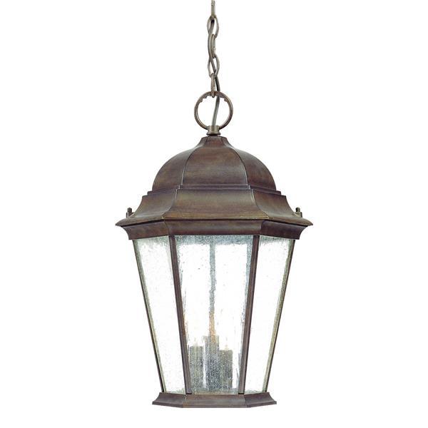 "Acclaim Lighting Richmond 3-Light Hanging Lantern - 18.5"" - Walnut"