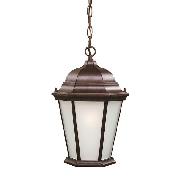 "Acclaim Lighting Richmond 1-Light Hanging Lantern - 14"" - Walnut"