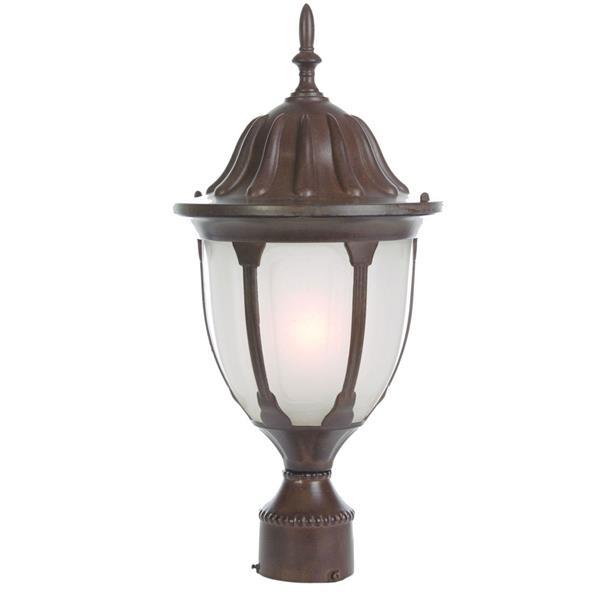 "Acclaim Lighting Suffolk 1-Light Post-Mount Lantern - 18.5"" - Walnut"