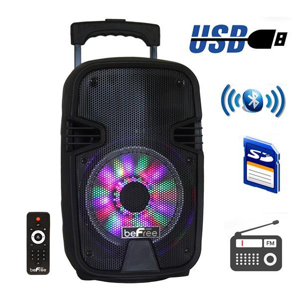 "BeFree Sound Bluetooth Portable Speaker - 8"" - Black"