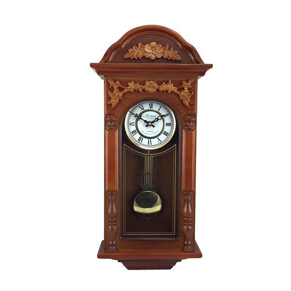 "Bedford Wall Clock - 12.75"" x 27.5"" - Wood - Oak"
