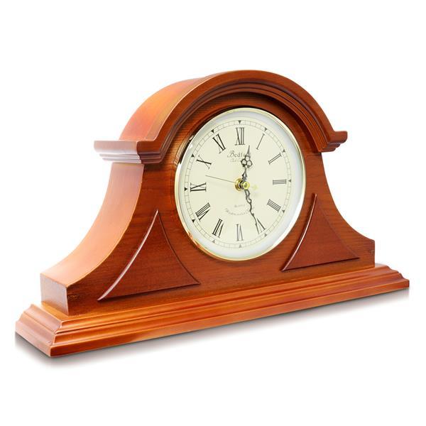 "Bedford Mantel Clock - 18"" x 11"" - Wood - Mahogany Cherry"