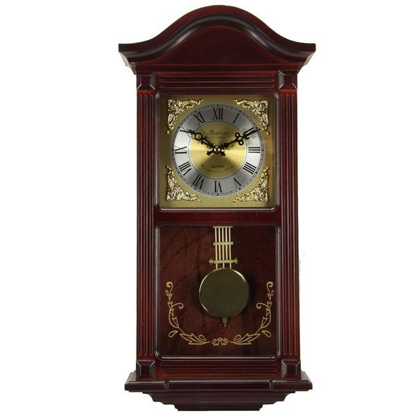 "Bedford Wall Clock - 10.75"" x 22"" - Wood - Cherry Oak"