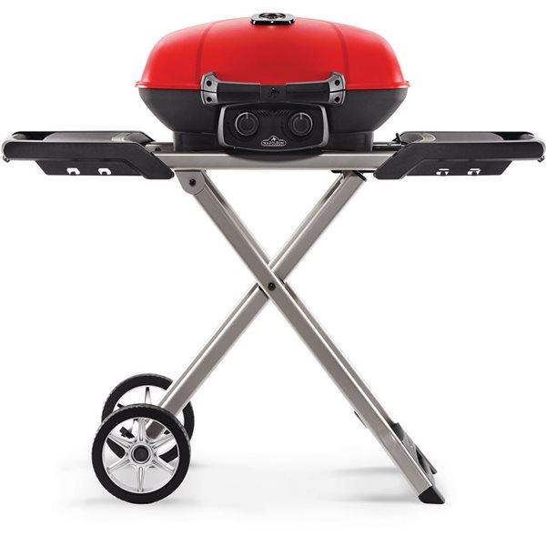 Napoleon TravelQ Portable Propane Gas Grill with Scissor Cart - Red