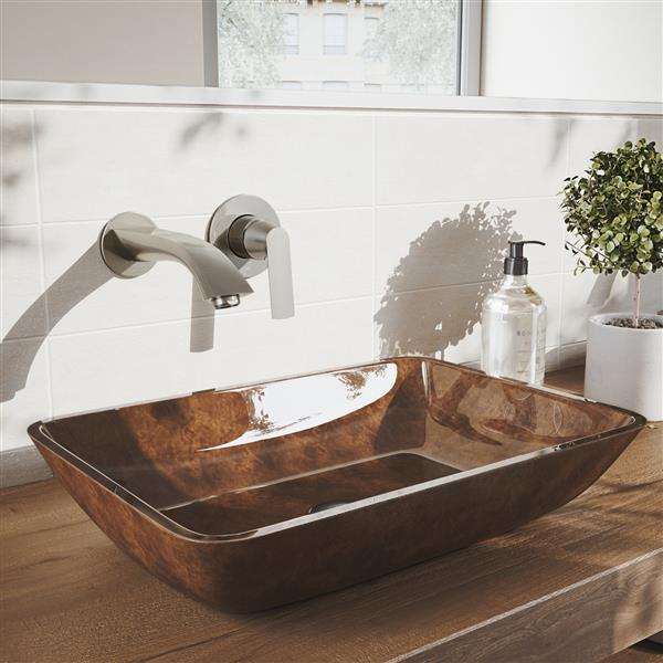VIGO Aldous Wall Mount Bathroom Faucet - Brushed Nickel