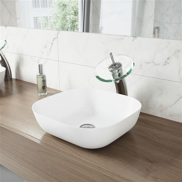 VIGO Waterfall Bathroom Vessel Faucet -  1 Handle - Chrome