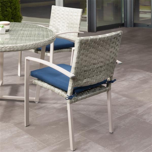 Awe Inspiring Corliving Rattan Patio Dining Chairs Grey Blue Cushions Download Free Architecture Designs Scobabritishbridgeorg