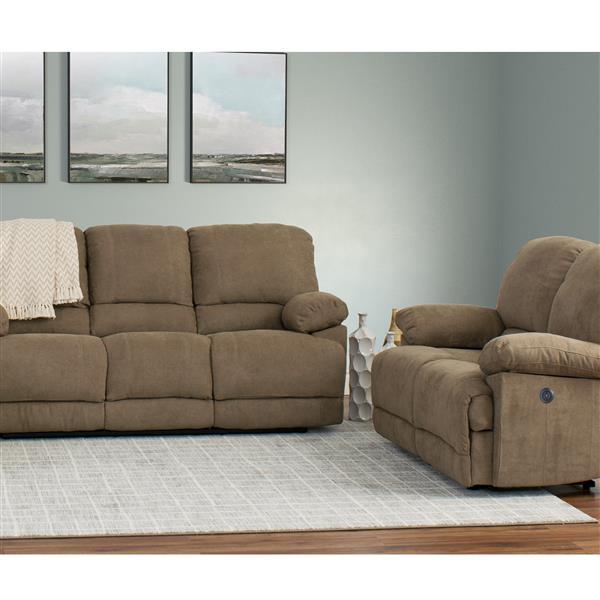 Stupendous Corliving Chenille Fabric Power Recliner Sofa Set 2Pc Lzy Evergreenethics Interior Chair Design Evergreenethicsorg