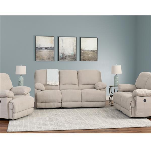 Miraculous Corliving Chenille Fabric Power Recliner Sofa Set 3Pc Evergreenethics Interior Chair Design Evergreenethicsorg