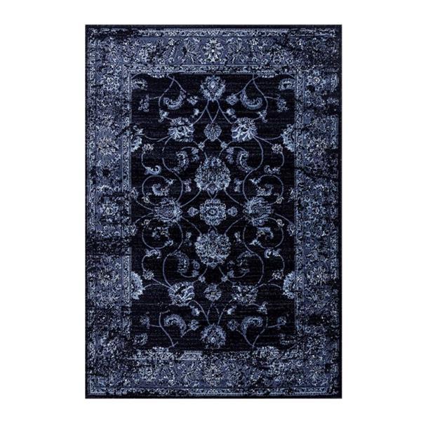 La Dole Rugs®  Anatolia Traditional Rectangular Rug - 5' x 7' - Navy Blue