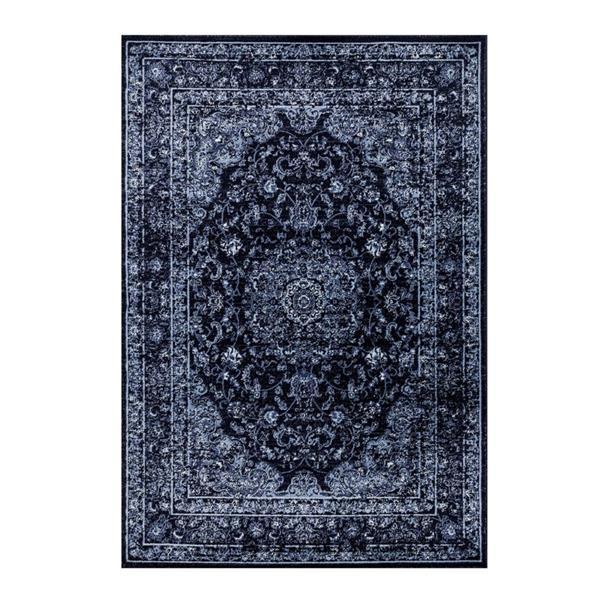 La Dole Rugs®  Anatolia Traditional Rectangualar Rug - 7' x 9' - Navy Blue
