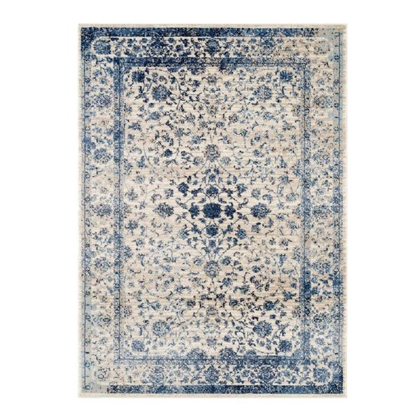 La Dole Rugs®  Anatolia Traditional Area Rug - 9' x 12' - Ivory/Blue