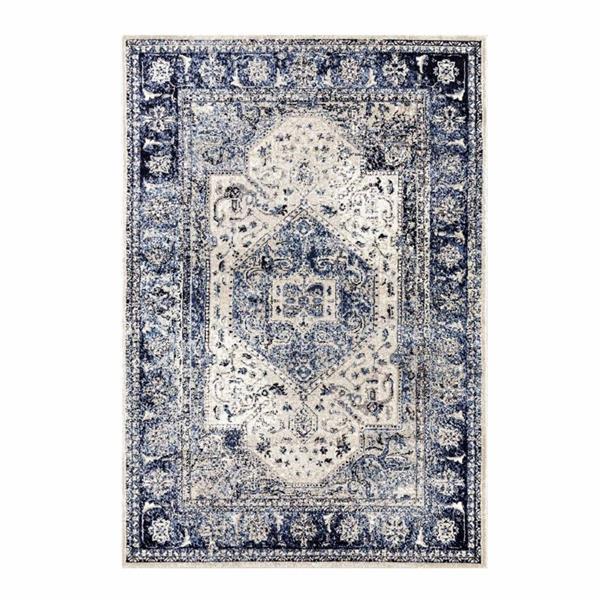 La Dole Rugs®  Anatolia European Rectangular Rug - 9' x 12' - Blue/Ivory
