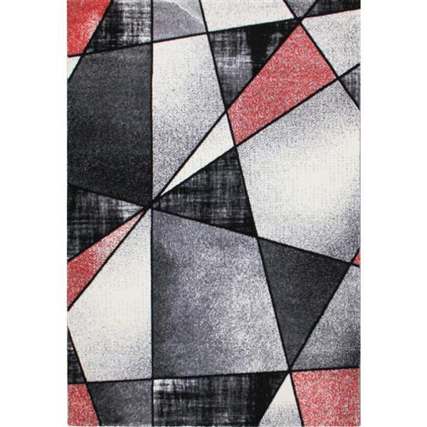 """Tapis géométrique de La Dole Rugs(MD), 5'2"""" x 7'3"""", noir"""