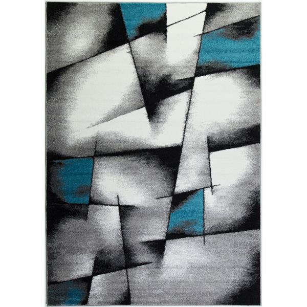 La Dole Rugs® Geometric Area Rug - 3' x 5' -Blue/Grey