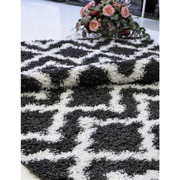 La Dole Rugs® Trellis Area Rug - 7' x 10' - Grey/White