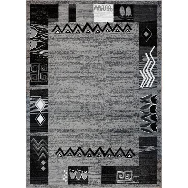 La Dole Rugs® Boarder Modern Area Rug - 5' x 8' - Grey