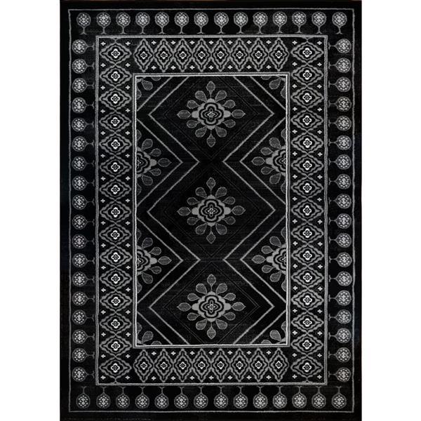 La Dole Rugs®  Contemporary Geometric Rectangular Rug - 8' x 11' - Black