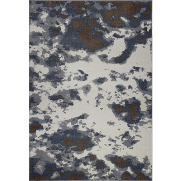 Tapis turque «Brampton» de La Dole Rugs(MD), 3' x 10', gris