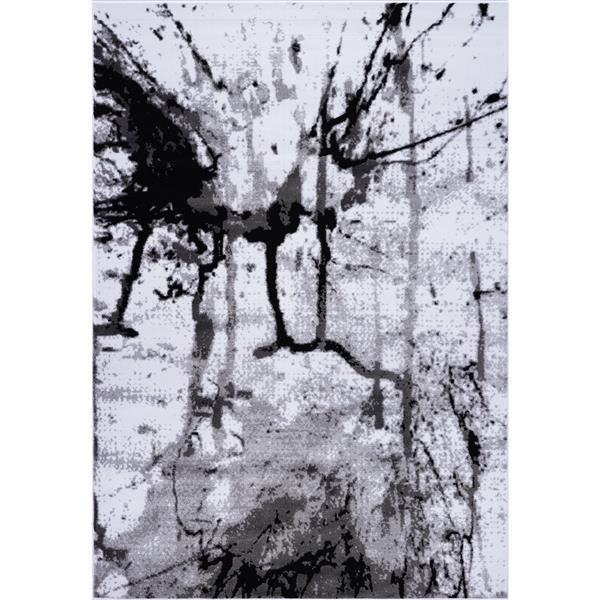 La Dole Rugs® Anise Art Area Rug - 3' x 10' - Grey/Cream