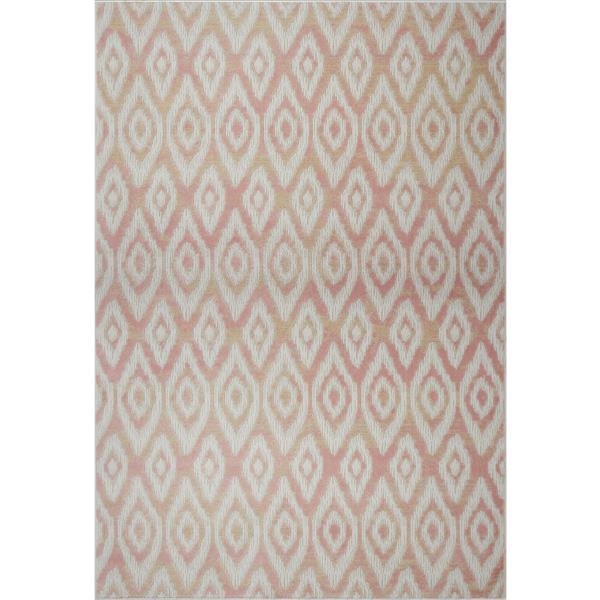 La Dole Rugs®  Bolivya Geometric Modern Area Rug - 7' x 10' - Baby Pink