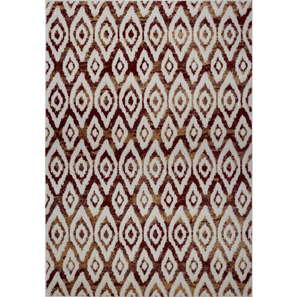 La Dole Rugs®  Bolivya Geometric Modern Area Rug - 5' x 8' - Yellow/Pink
