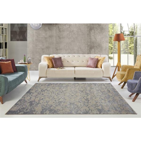 La Dole Rugs®  Concord Abstract Area Rug - 3' x 10' - Caramel/Grey