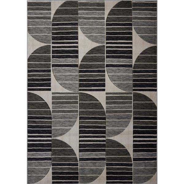 La Dole Rugs® Modern Area Rug - 8' x 11' - Dark Grey/Black