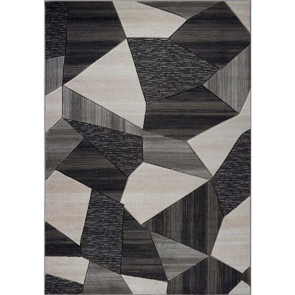"La Dole Rugs® Modern Carpet - 1' 10"" x 2' 11"" - Cream/Gold"