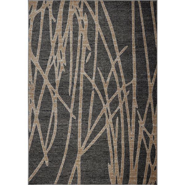 Tapis moderne de La Dole Rugs(MD), 7' x 10', gris foncé