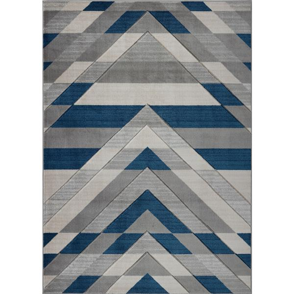 La Dole Rugs® Modern Area Rug - 8' x 11' - Grey/Blue