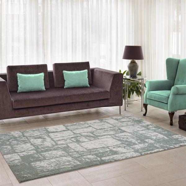 La Dole Rugs®  Contemporary Abstract Area Rug - 5' x 8' - Green/Cream