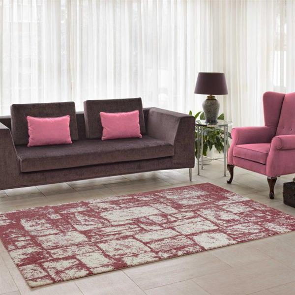La Dole Rugs®  Contemporary Abstract Area Rug - 3' x 5' - Rose/Cream