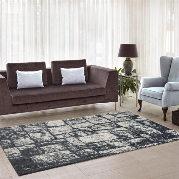 La Dole Rugs®  Contemporary Abstract Area Rug - 4' x 6' - Light Grey