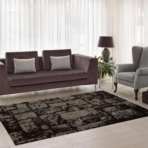 La Dole Rugs®  Contemporary Abstract European Rug - 4' x 6' - Brown