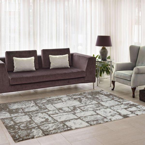 La Dole Rugs®  Contemporary Abstract European Rug - 4' x 6' - Beige