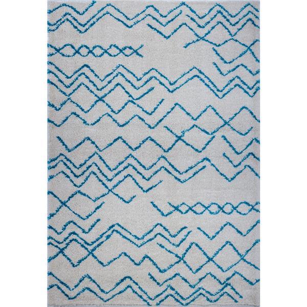 La Dole Rugs®  Contemporary Trellis Rectangular Rug - 7' x 10' - Turquoise