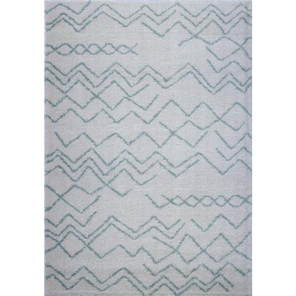 La Dole Rugs®  Contemporary Trellis Rectangular Rug - 7' x 10' - Ivory