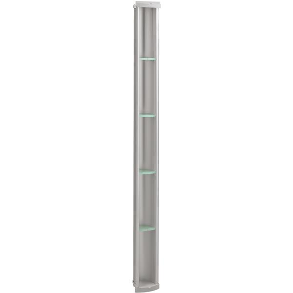 "Rangement de douche Pilaster, 61"", aluminium, argent"