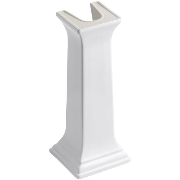 KOHLER Memoir Bathroom Sink Pedestal - 11-in x 26.4-in - White