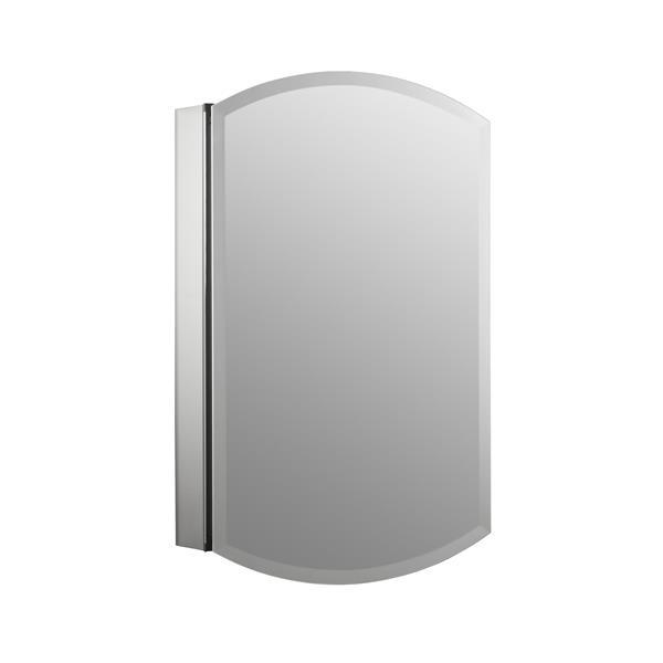 KOHLER Archer Medicine Cabinet - 20-in x 31-in - Aluminum - Silver